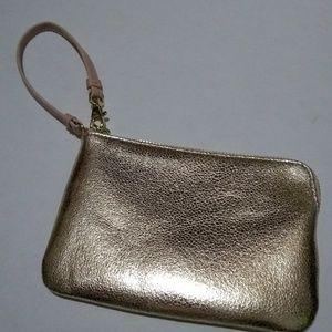 Prince & Fox Metallic Faux Leather Leash Wristlet